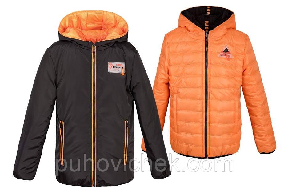 Дитячі куртки для хлопчиків весняні розміри 110-164