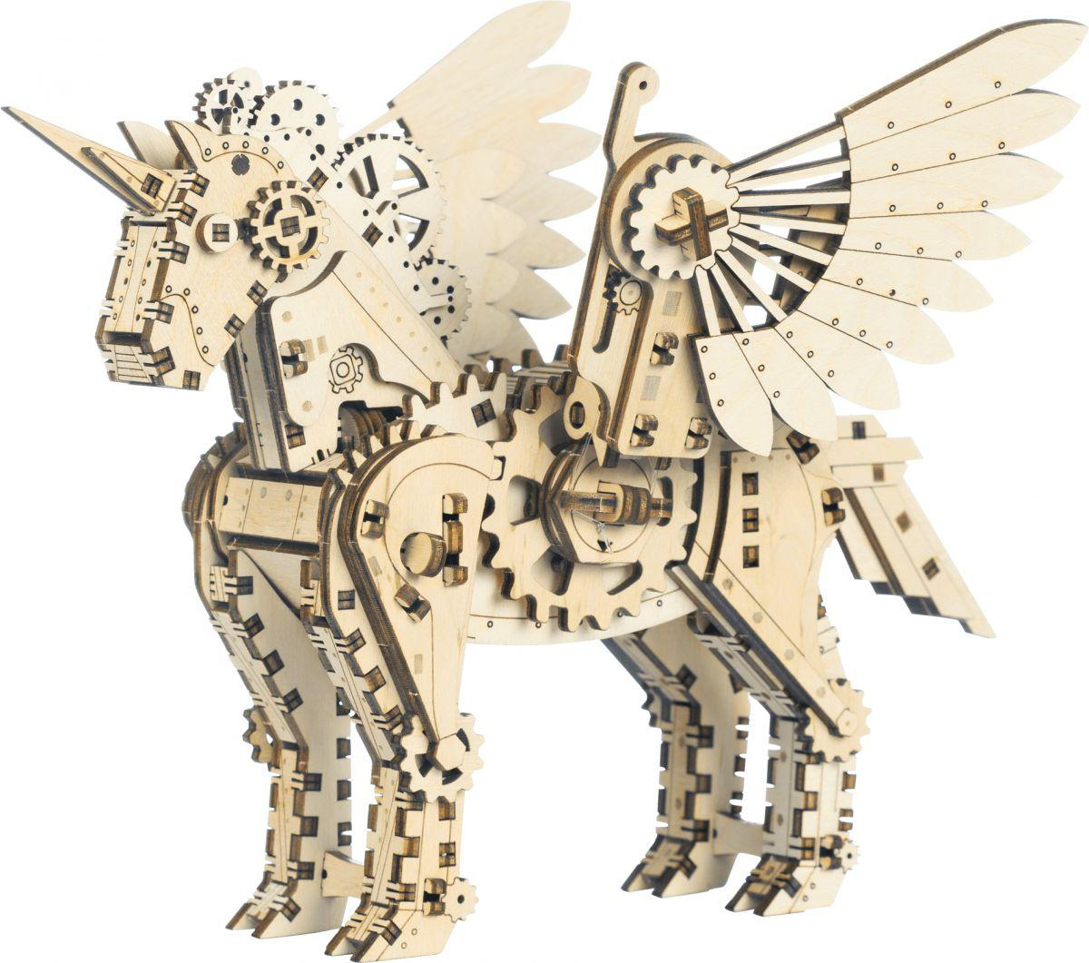 "Дерев'яний конструктор ""Mechanical Unicorn"", 140 ел. 10604"