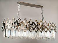 Хрустальная люстра овальной формы для гостиной (Арт: 200803-900x400HR хром)