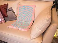 Коврик акупунктурный IGORA MAT 80х45 (розовый лен), фото 2