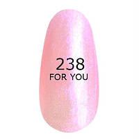 Гель-лак For You № 238 ( Нежный Бело Розовый, микроблеск ), 8 мл
