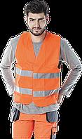 Жилет KOS-5 P сигнальный светоотражающий оранжевый .REIS