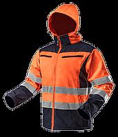 Куртка рабочая 81-701 сигнальная softshell с капюшоном. NEO TOOLS