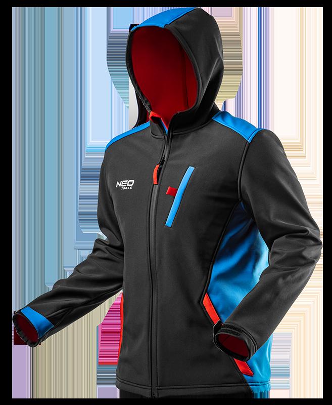 Куртка 81-558  из  материала softshell, с капюшоном. NEO TOOLS