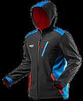 Куртка 81-558  из  материала softshell, с капюшоном. NEO TOOLS, фото 1