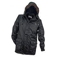Куртка утеплена KURTKA OCIEPLANA URG-1720 BLACK з поліестеру чорного кольору. Urgent (POLAND)