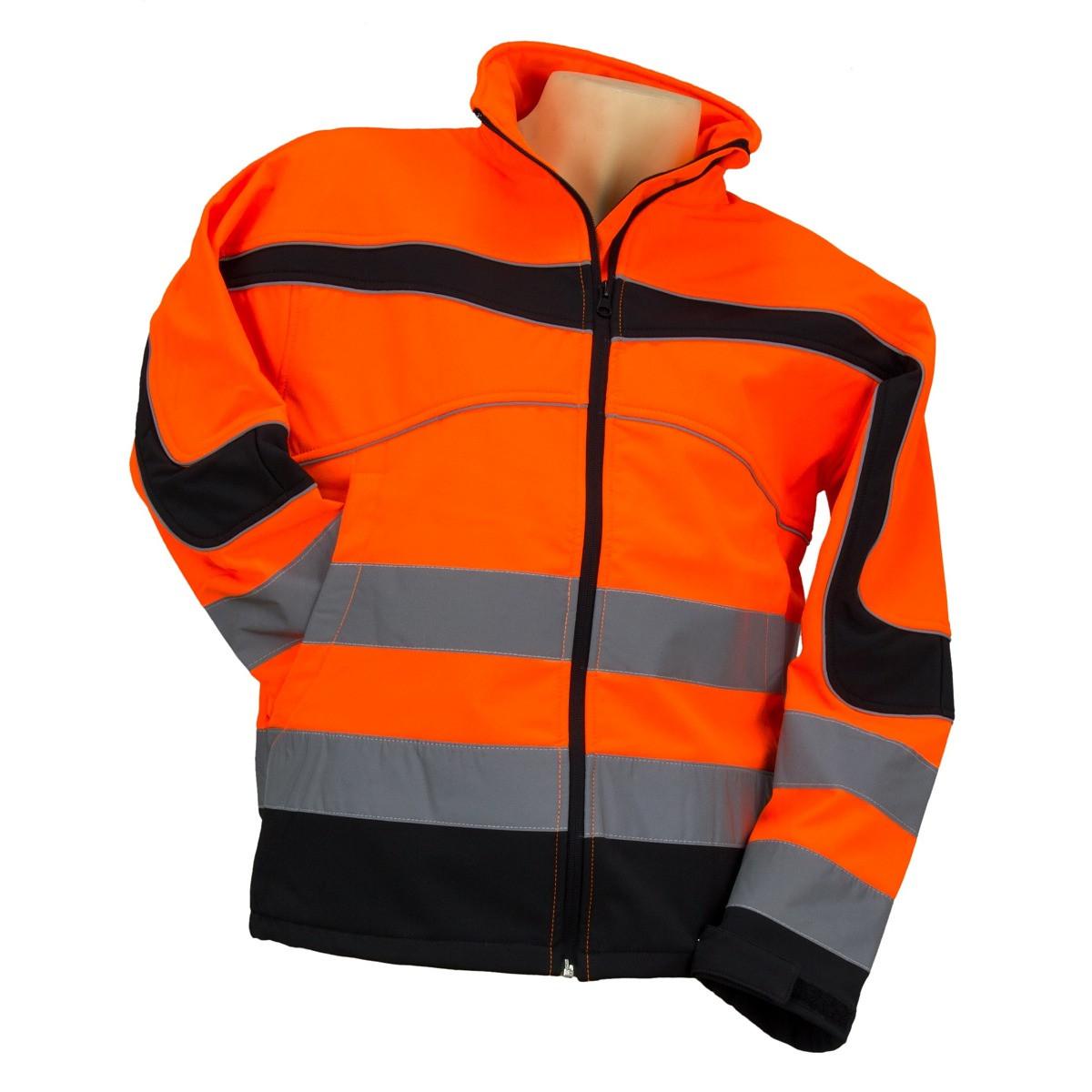Куртка STRZEGAWCZY POMARAŃ з светотражающими смугами, чорно-помаранчевого кольору. Urgent (POLAND)