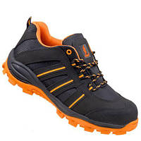 Напівчеревики 261 S1 з металевим носком,антистатичні, чорно-помаранчевого кольору. URGENT (POLAND)