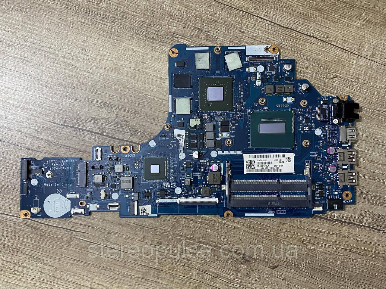 Материнская плата ZIVY2 LA-B111P (Rev: 1A) для ноутбука Lenovo Y50-70