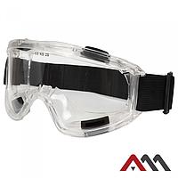 Закрытые защитные очки с прозрачной линзой GB028