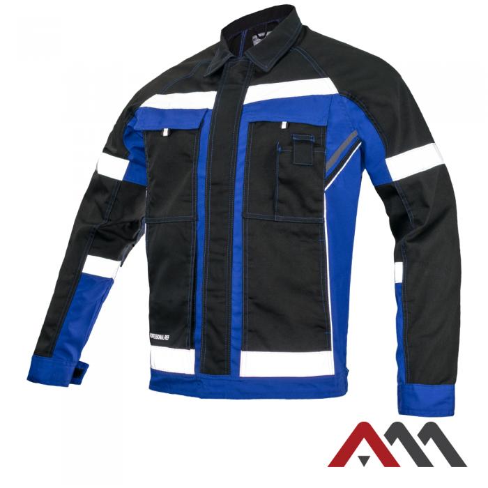 Куртка рабочая PROFESSIONAL-REF синего цвета с черными вставками.ARTMAS