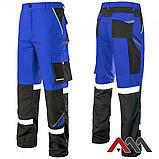 Брюки рабочие PROFESSIONAL-REF синего цвета с черными вставками.ARTMAS, фото 2