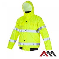 Куртка зимняя светоотражающая KURTKA FLASH SHORT YELLOW KAT.2.ARTMAS