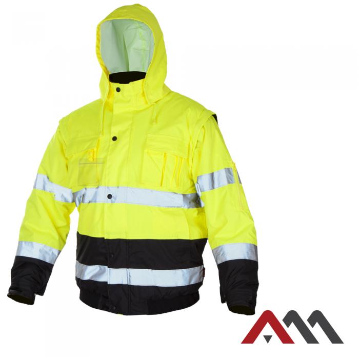 Куртка зимняя светоотражающая KURTKA FLASH SHORT-B YELLOW.ARTMAS