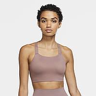 Топ женский споривный  Nike Swoosh Luxe Bra LL  пудровый, фото 1