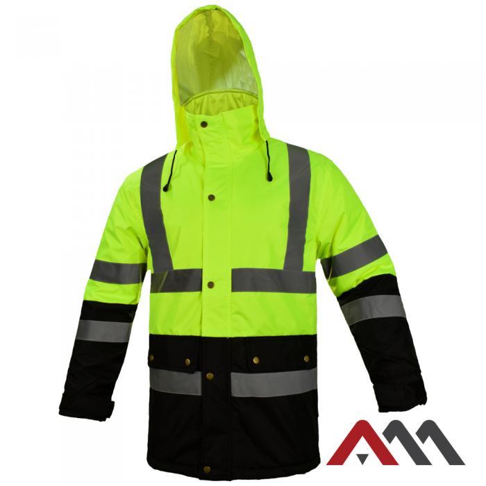 Куртка зимняя светоотражающая KURTKA FLASH BI YELLOW.ARTMAS