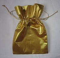 Мешочек для подарков золотистый
