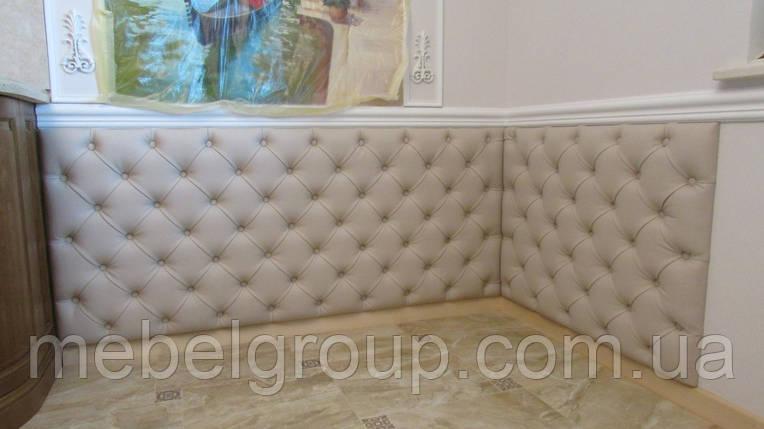 Мягкая стеновая панель каретная стяжка, фото 2