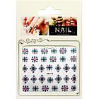 Наклейки для Ногтей Самоклеющиеся 3D Nail Sticrer SF-E-19 Разноцветные с Блестками Декоры для Ногтей, фото 2