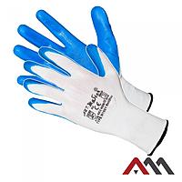 Перчатки RNITBLUE с нитриловым покрытием