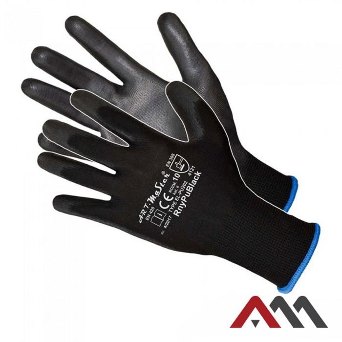 Перчатки RNYPU BLACK с полиуретановым покрытием