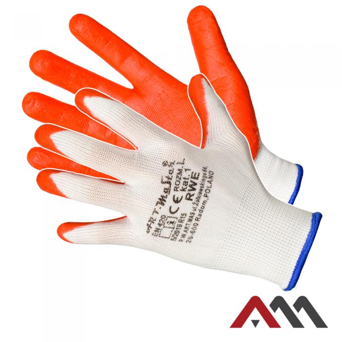 Перчатки RWE L с латексным покрытием