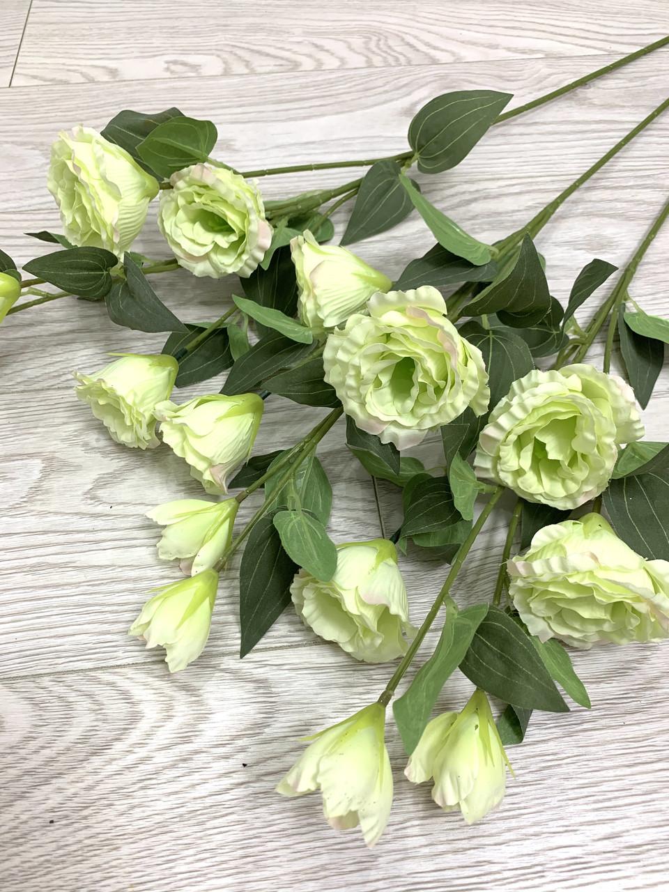 Искусственная эустома салатовая ( премиум , имитация натурального растения)