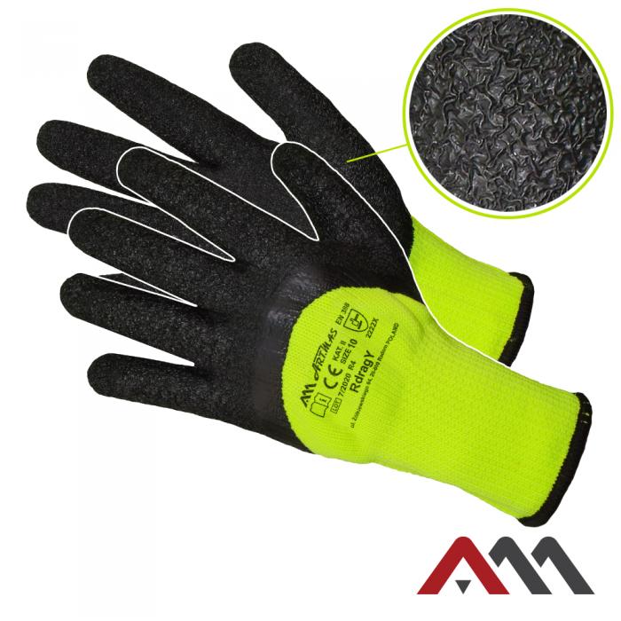 Зимние перчатки RDRAG YELLOW