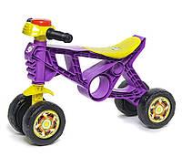 Мотоцикл Беговел Орион на 4 колесах для толкания ногами, фиолетовый (188F) для детей от 2 лет