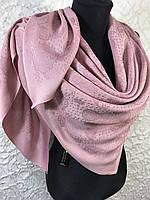 Женский двухсторонний розовый платок с люрексом Турция, фото 1