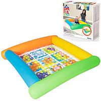 Бассейн детский надувной развлекательный с ремкомплектом Bestway, 132 х 132 см