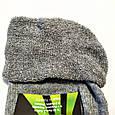 Шкарпетки чоловічі теплі зимові махрові світло сірі спорт 40-44, фото 3