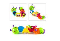 Детская Игрушка Погремушка для новорожденных Limo Toys гусеница-логика