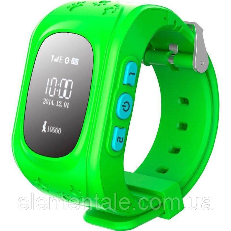 Детские умные GPS часы Q50 green