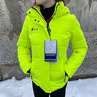 Термокуртка оригинальная яркая женская зимняя SNOW HEADQUARTER