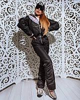 """Женский лыжный комбинезон """"CANADA"""" (черный, серый, пудра, до 56 размера) 7-10 дней, фото 1"""