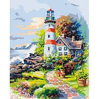 """Картина для рисования по номерам. Идейка Морской пейзаж """"Приют мечтаний"""" 40х50 см."""