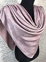 Женский светло-розовый платок с люрексом Турция, фото 1
