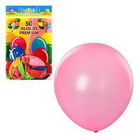 Шарики надувные MK0014, 12 дюймов, яркий, микс цветов, 50шт в шарик, 18,5-28-1см