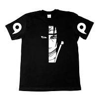 """Мужская футболка с принтом надписью """"Итачи. Наруто"""""""