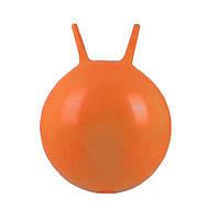 Гимнастический мяч для фитнеса с рожками Profi MS 0380, 45 см., оранжевый