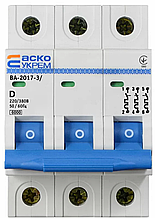 Автоматичний вимикач УКРЕМ ВА-2017/D 3р 3А АСКО