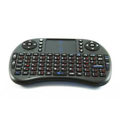 Беспроводная клавиатура KeyBoard mini i8 RT-MWK08, RUS, черная