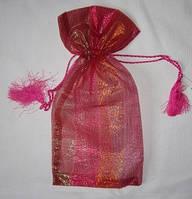 Мешочек для подарков красный парча