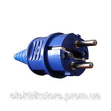 Вилка переносна ВП 16А/2 (220В) 2Р+РЕ (012) Синя