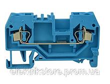 Клемник пружинный  JHN1-4,0 синий