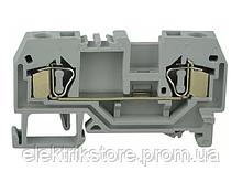 Клемник пружинный JHN1-10,0 серый