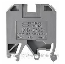 Клеммник JXB  6/35 серый