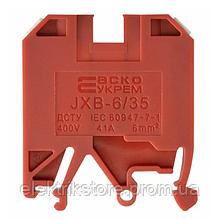 Клеммник JXB 6/35 красный