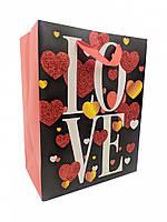 """Красивые Маленькие Подарочный пакет из Бумаги 212S """"LOVE"""" 212S-1 Стандартные 18 * 23 * 10см"""